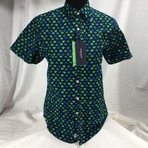 13d6e4bc6b NWT Denim   Flowers Clover Button Down Shirt